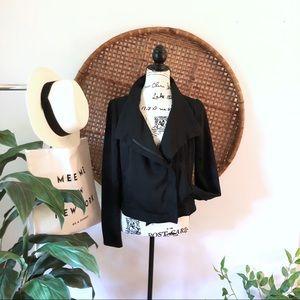Black asymmetrical  jacket. Jen Rade. Size 6. NWOT